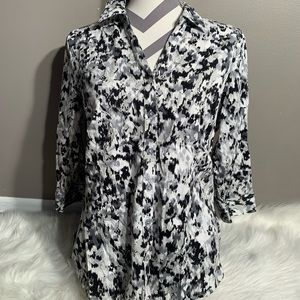212 Collection Size L Stretch Blouse 3/4 Sleeves